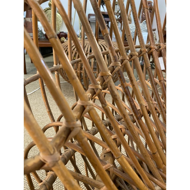 Original Franco Albini Wicker Rattan Chair and Ottoman - a Pair For Sale - Image 9 of 13