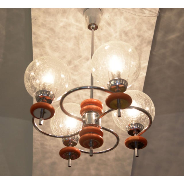 Austrian ceiling lamp, 1970s For Sale - Image 5 of 8