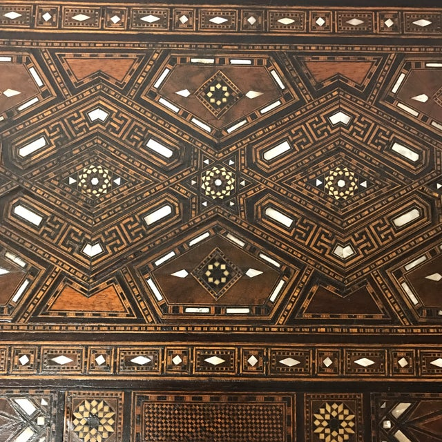 Antique Syrian Inlaid Game Table For Sale In Charlotte - Image 6 of 11