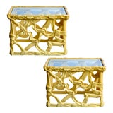 Image of Mid-Century Acrylic Ribbon End Tables, A-Pair For Sale
