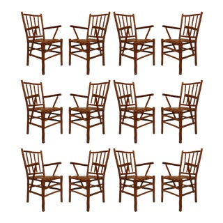 Old Hickory American Rustic Chairs - Set of 12 For Sale
