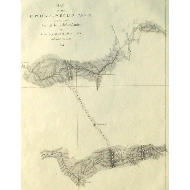 Santiago, Chili Uspullata & Portillo Passes, 1855 Map For Sale - Image 5 of 8