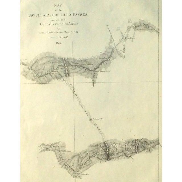 Santiago, Chili Uspullata & Portillo Passes, 1855 Map - Image 5 of 8
