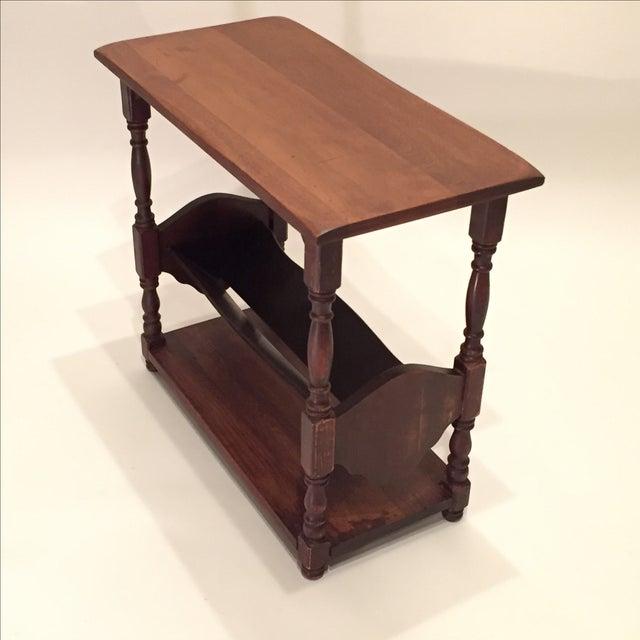 Vintage Walnut Bookshelf Side Table - Image 6 of 8