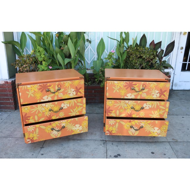 1960s Retro Pair of Drexel Chests of Drawers For Sale - Image 5 of 10