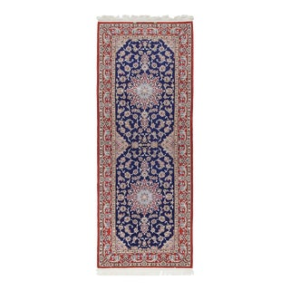 One-Of-A-Kind Persian Hand-Knotted Area Rug, Navy, 2' 9 X 7' 3 For Sale