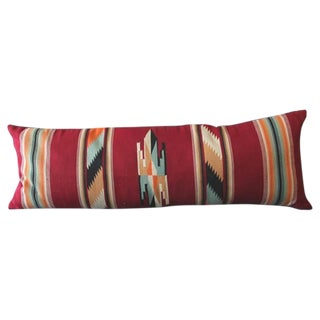Amazing Large Mexican American Bolster Pillow For Sale