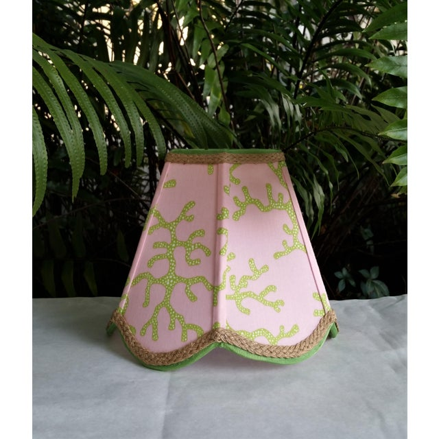 Lampshade Pink Green Tropical Lilly Pulitzer Fabric For Sale In West Palm - Image 6 of 11