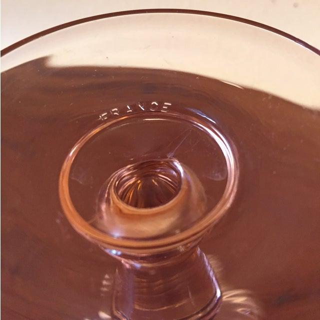 Art Deco Pink Glass Stemware - Set of 5 - Image 8 of 10