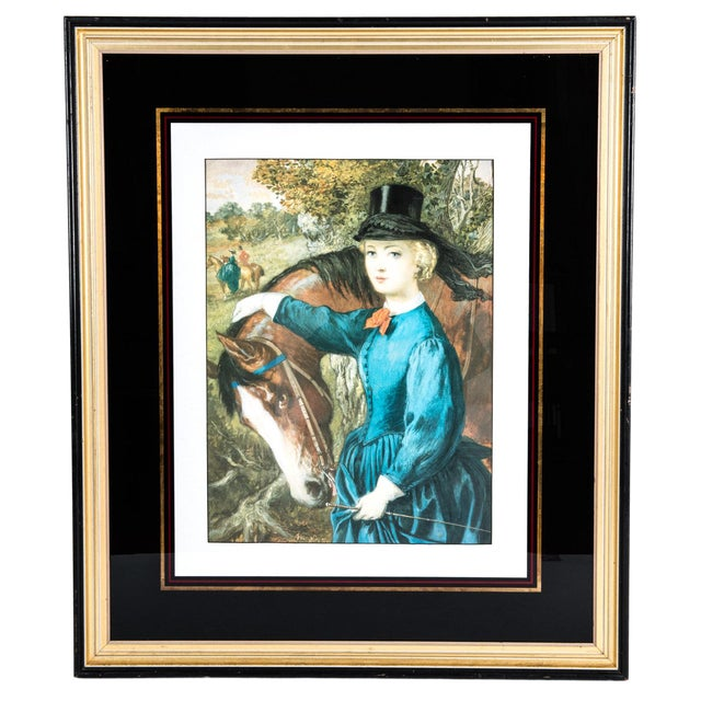 Early 20th Century French Print Lithograph With Painted Wood Frame For Sale - Image 12 of 12