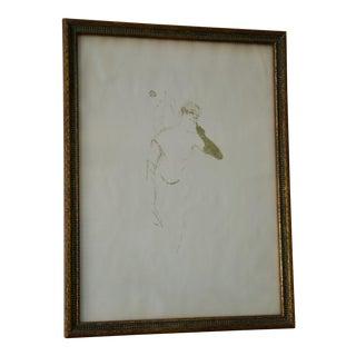 Vintage Lithograph Print by Henri De Toulouse-Lautrec For Sale