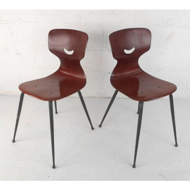 Mid-Century Modern Adam Stegner for Pagholz Flötotto Sculpted Chairs - Set of 6 For Sale - Image 3 of 9