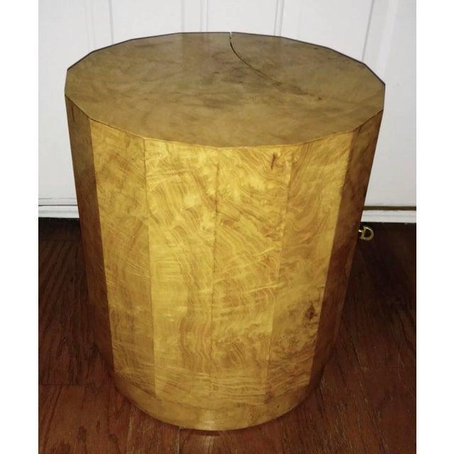 Edward Wormley For Dunbar Burl Wood Side Table Bar Chairish