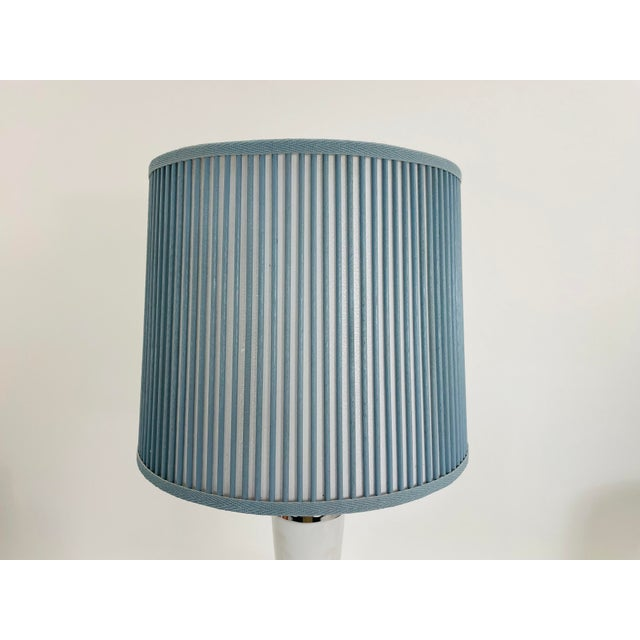 """Traditional Retro Drum Stick Shade in Solid Light Blue, 10"""" For Sale - Image 3 of 5"""