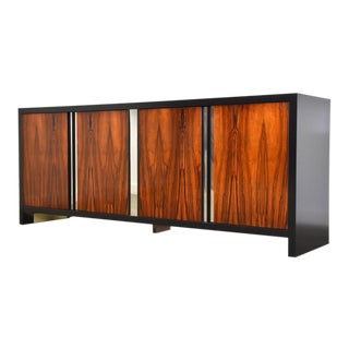 Rosewood and Chrome Dresser For Sale