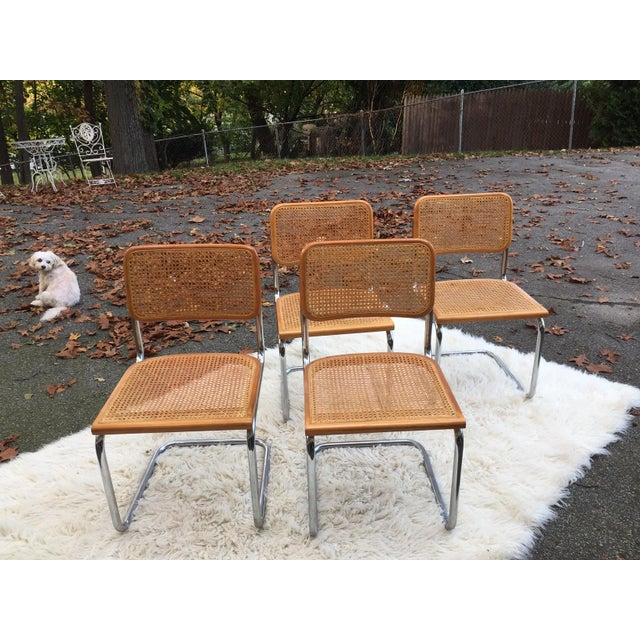 Marcel Breuer-Style Cane Chairs - Set of 4 - Image 3 of 6
