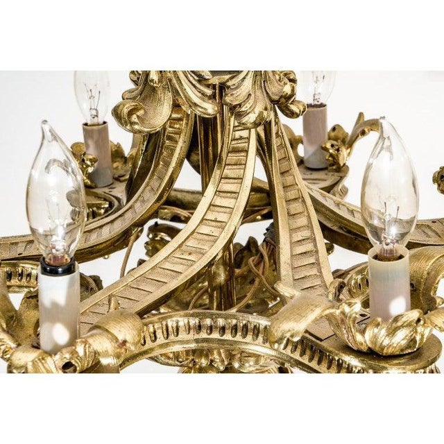 English Gothic Revival Bronze Chandelier For Sale - Image 10 of 13