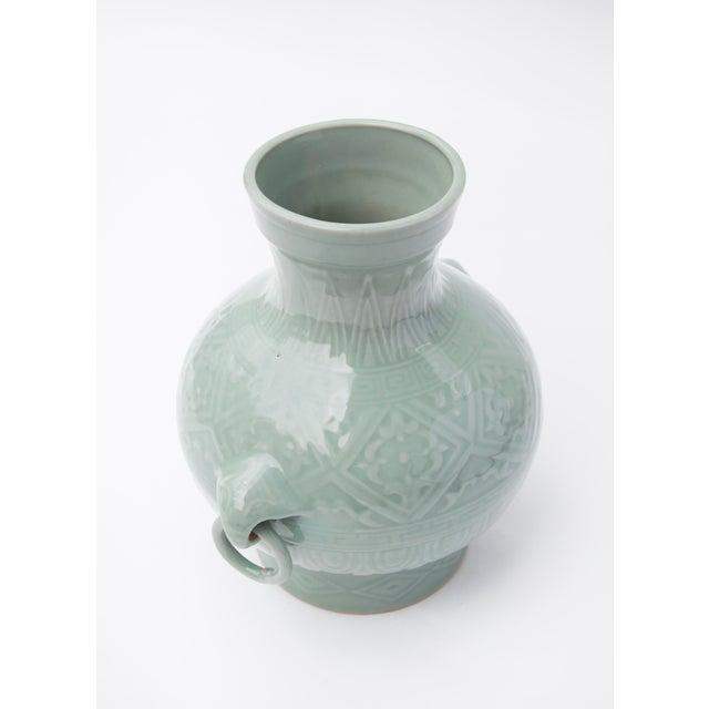 Asian 1960's Chinese Porcelain Vase in Celadon Glaze For Sale - Image 3 of 7