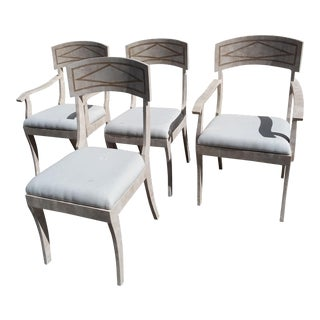 Tessellated Stone Chairs - Set of 4 For Sale