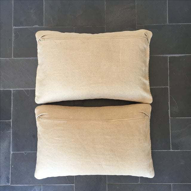 Williams Sonoma Woven Linen Pillow Covers - A Pair - Image 4 of 8
