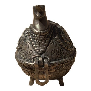 Dhokra Brass Chicken Trinket Box