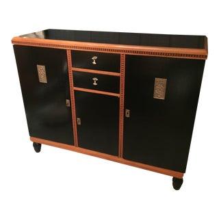 Art Deco Style Ebonized Cabinet For Sale