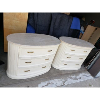 Vintage Century Furniture Travertine Topped Chests-a Pair Preview
