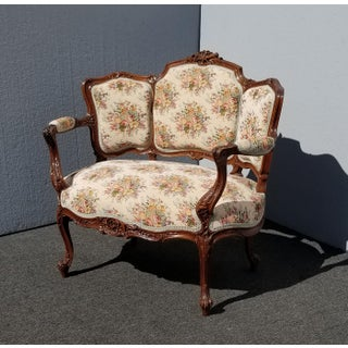 1930s Vintage French Country Provincial Ornate Carved Chair Preview