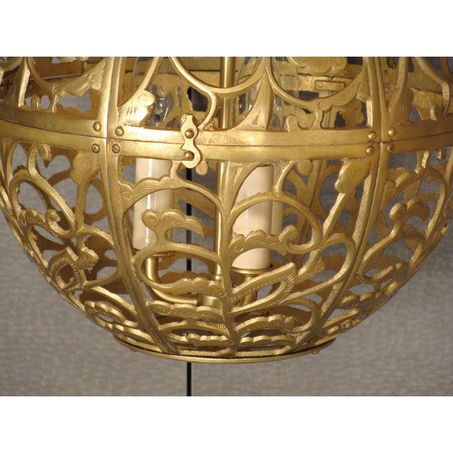 Vintage Brass Globe Light - Image 3 of 6