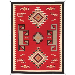 Contemporary Navajo Style Wool Area Rug - 8′11″ × 12′ For Sale