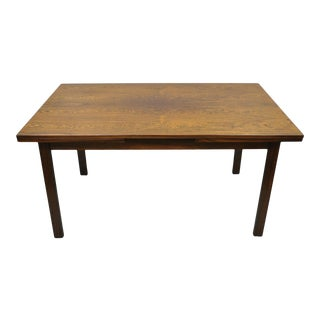 Vintage Mid Century Danish Modern Rosewood Draw Leaf Extension Dining Table For Sale