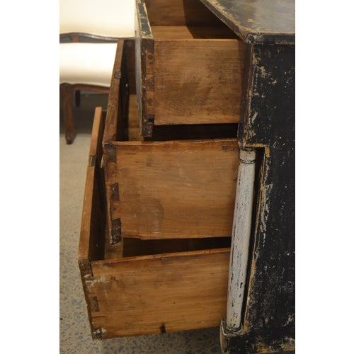 Black Antique Chest With New Paint (Black and White) From Spain For Sale - Image 8 of 13