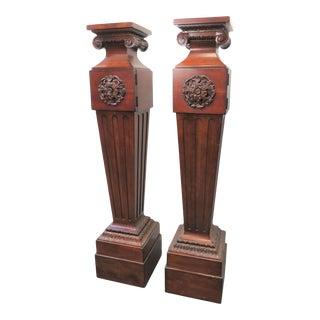 Century Oscar De La Renta Neoclassical Pedestals - a Pair For Sale