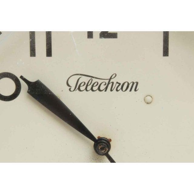 Warren Telechron Co. Vintage Painted Telechron Clock For Sale - Image 4 of 8