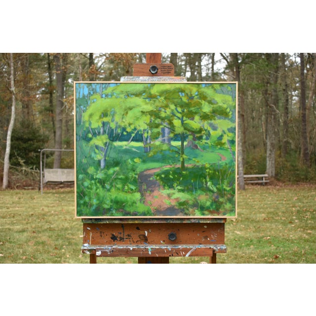 "Contemporary Stephen Remick ""S-Curve by the Beech Tree"" Landscape Painting For Sale - Image 3 of 11"