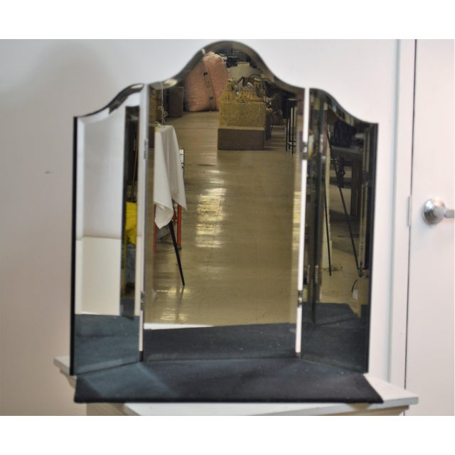 Perfect for a Vanity Mirror sides fold and can be adjusted. Classic Vanity Mirror A large scale table top mirror with a...