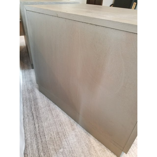 Restoration Hardware Restoration Hardware Herringbone Narrow Nightstands - A Pair For Sale - Image 4 of 6