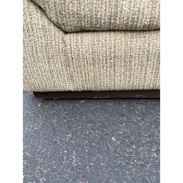 Vintage Deep Biscuit Tommy Tufted Lounge Chair and Ottoman For Sale - Image 11 of 13