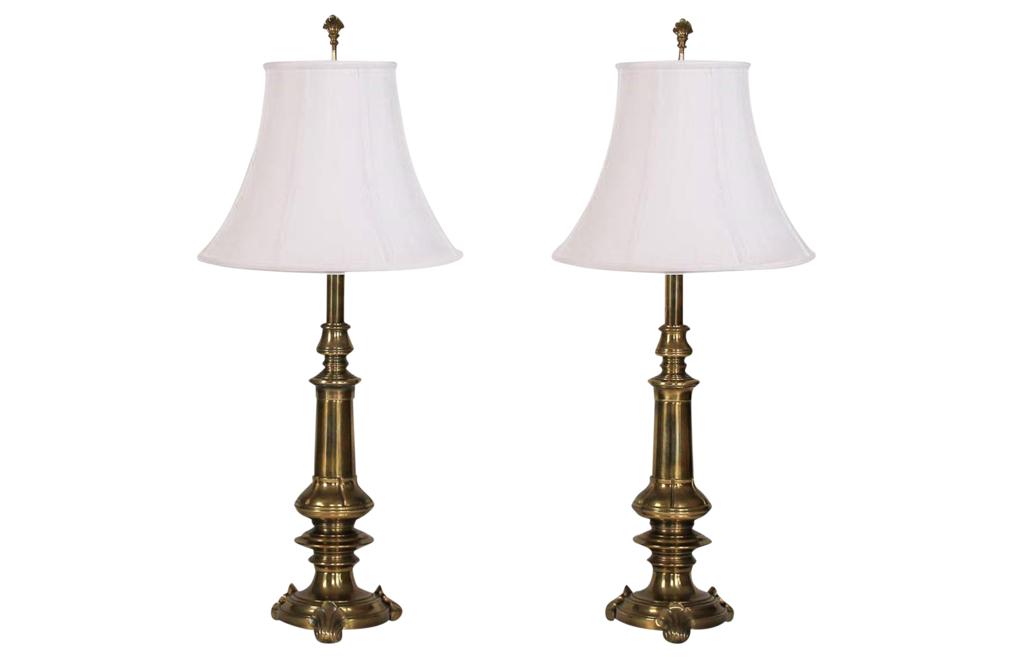Brass stiffel lamps a pair chairish