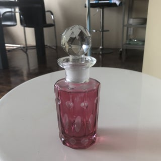 Bohemian Ruby Red Cut Glass Perfume Bottle Preview