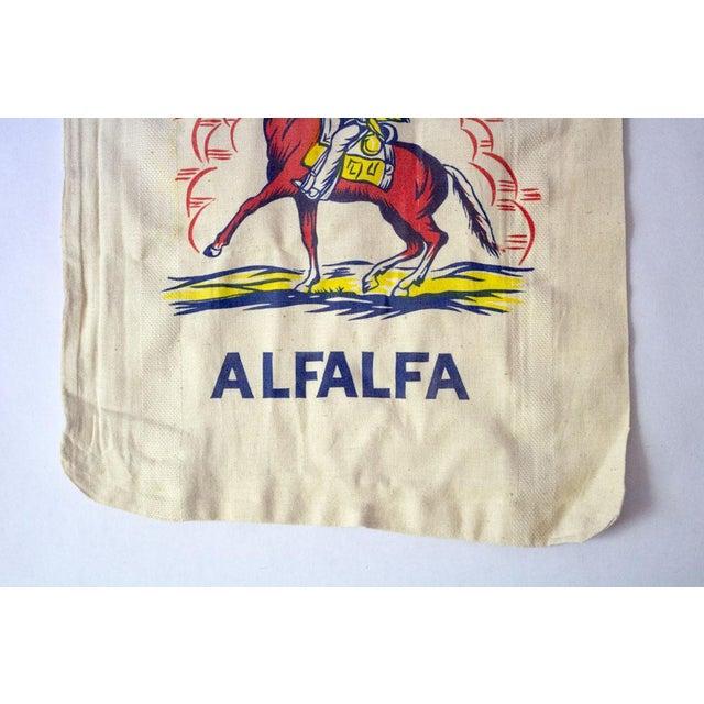 Vintage Oklahoma Alfalfa Seed Sack For Sale - Image 4 of 8