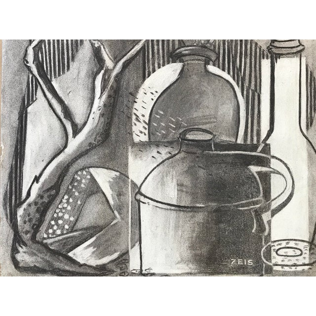1930s Charcoal Still Life For Sale In New York - Image 6 of 6