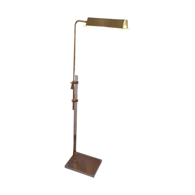 Vintage Lucite and Brass Floor Lamp - Image 1 of 5