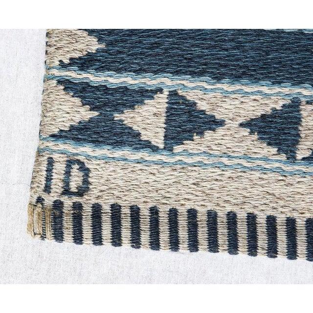 1950s Vintage Ingrid Dessau Flat-Weave Swedish Carpet For Sale - Image 5 of 5
