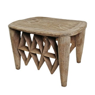 Vintage Nupe Tribal Stool Table For Sale