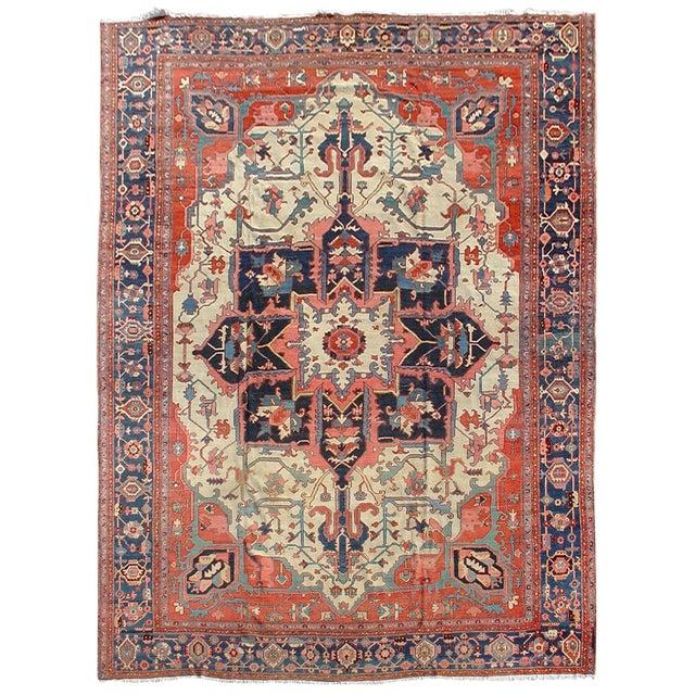 Serapi Persian Carpet - 12′1″ × 15′6″ For Sale