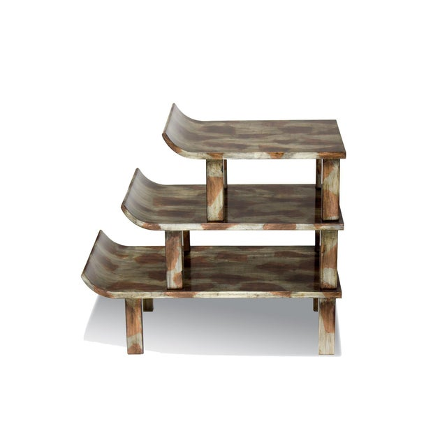 "Truex American Furniture ""Pagoda"" Side Table - Image 2 of 4"