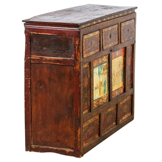 Antique Tibetan Monastery Cabinet - Image 2 of 6