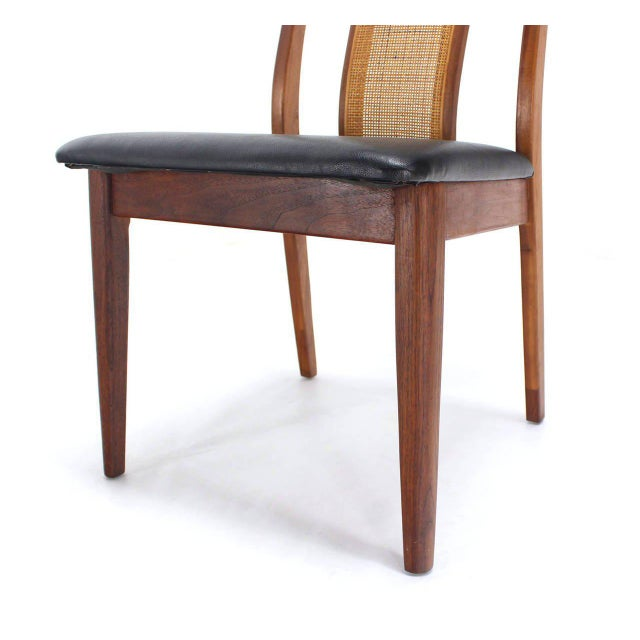 Early 20th Century Set of Four Danish Mid-Century Modern Oiled Walnut Side Dining Chairs For Sale - Image 5 of 9
