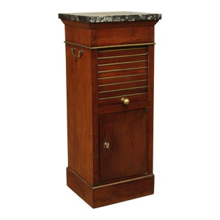 Antique 19th Century Regency Style Mahogany Marble Top Pot Cupboard For Sale